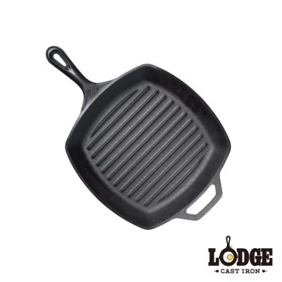 美國Lodge-鑄鐵方型牛排煎鍋-10-5吋-26公分