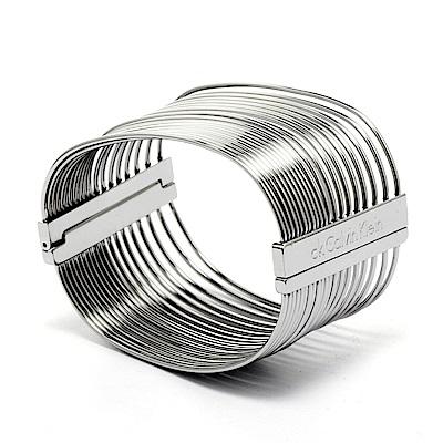 CK Calvin Klein  空氣感流暢線條手環