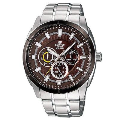EDIFICE系列 時尚狂潮都會腕錶(咖啡)-44mm