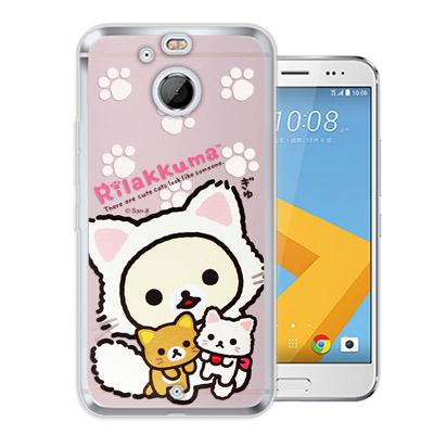 日本授權正版 拉拉熊 HTC 10 evo 5.5吋 變裝系列彩繪手機殼(貓咪粉...