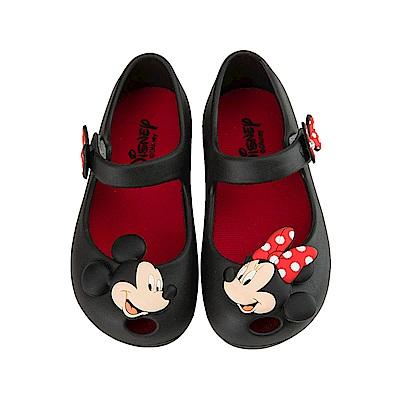 迪士尼童鞋 米奇米妮 立體防水娃娃鞋-黑