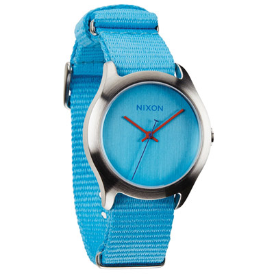 NIXON MOD 戶外冒險休閒腕錶-水藍/38mm