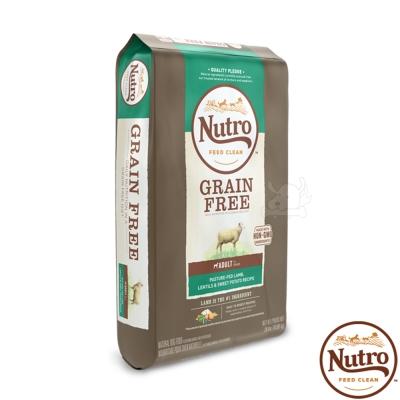 【Nutro 美士】低敏無穀 成犬糧(牧場小羊+扁豆+地瓜)24磅 X1包
