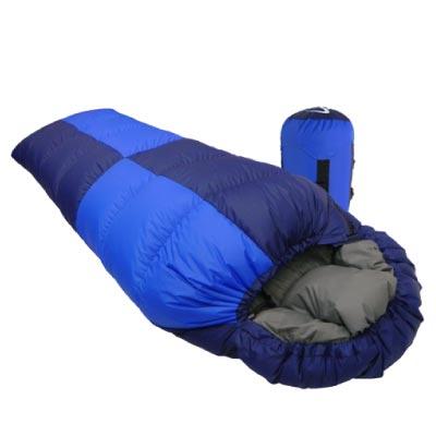 【台灣 VOSUN 】藍天 (美國杜邦Tactel) 頂極水鳥羽絨睡袋(絨重600g)