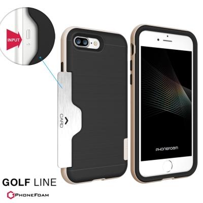 PhoneFoam LINE iPhone7 Plus 插卡式吸震保護殼
