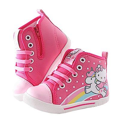 Hello kitty高筒鞋 桃 sk0281 魔法Baby