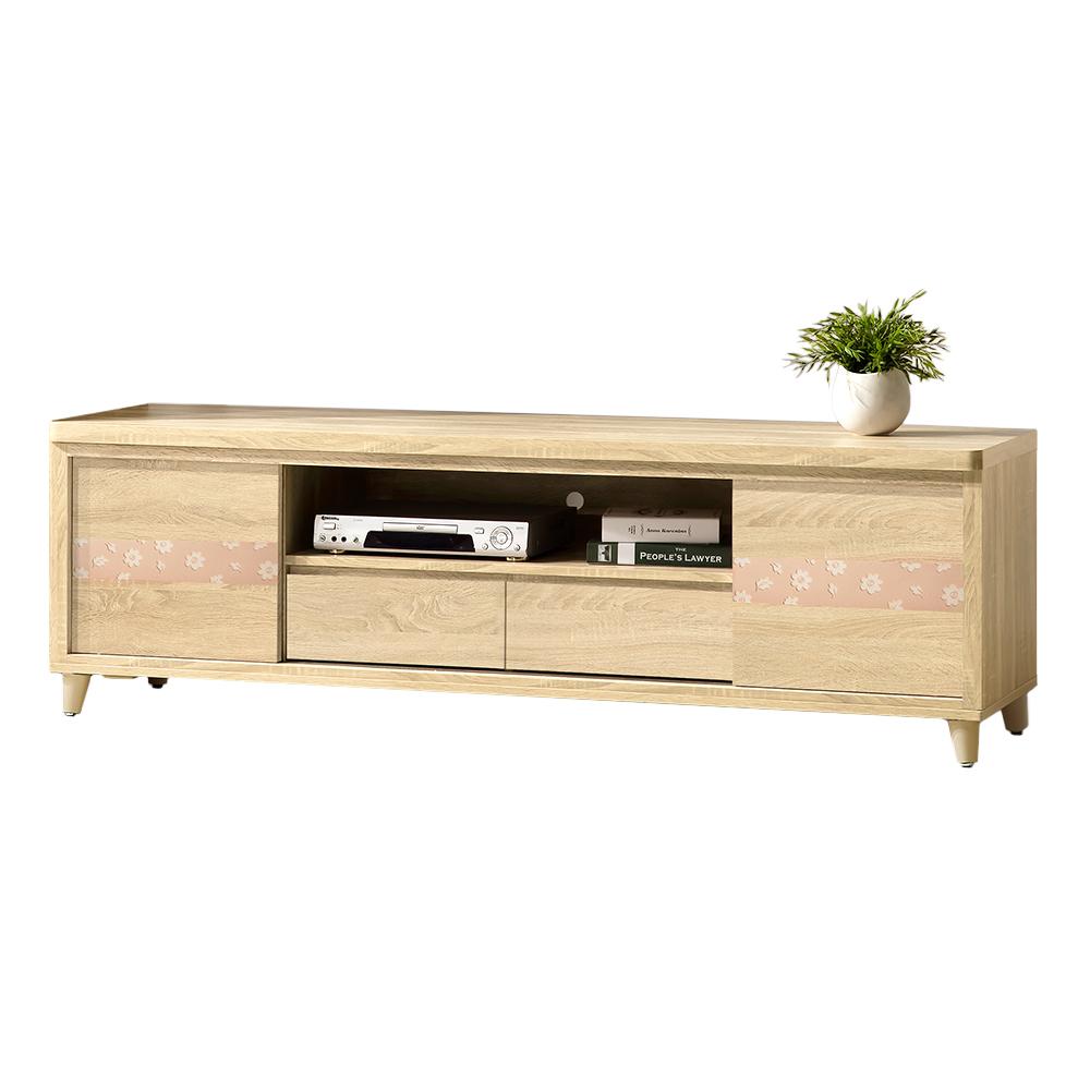 Bernice-艾麗卡6.1尺二門二抽電視櫃/長櫃-182x49x57cm