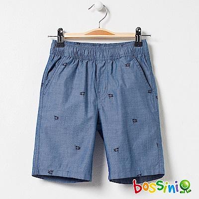 bossini男童-印花輕便短褲05藍