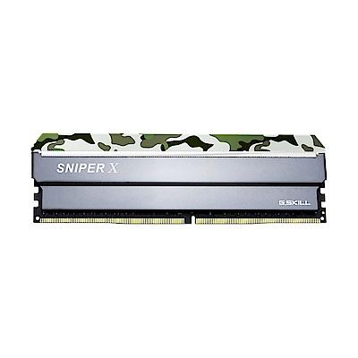 芝奇 G.SKILL Sniper X DDR4 3000 8GBx2 記憶體(莽林綠)