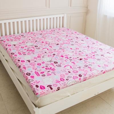 奶油獅-好朋友系列-馬來西亞進口100%天然乳膠床墊-5公分厚-單人加大3.5尺-俏麗粉