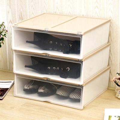 美樂麗 加長款 掀蓋式多功能收納盒 - 米白 *3入