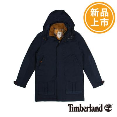Timberland-男款深藍色三合一連帽防水夾克外套