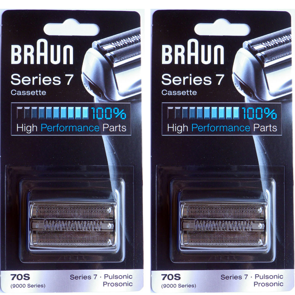德國百靈BRAUN-複合式刀頭刀網匣(銀)70S(2入組)