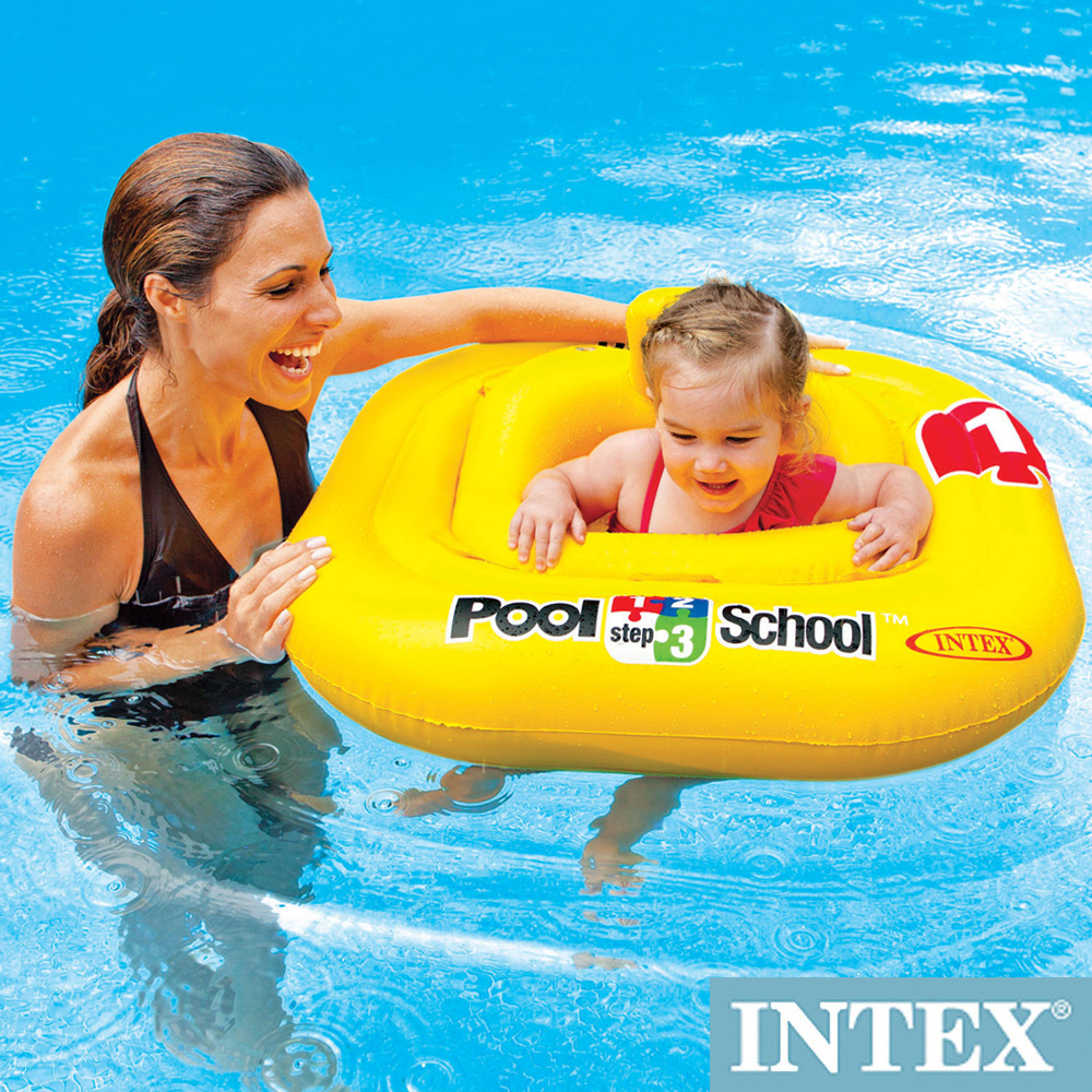 INTEX 游泳學校POOL SCHOOL-STEP 1 BABY游泳圈 (56587)