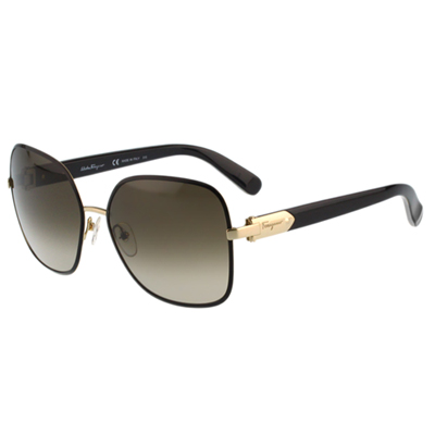 Salvatore Ferragamo- 時尚太陽眼鏡(黑色) @ Y!購物