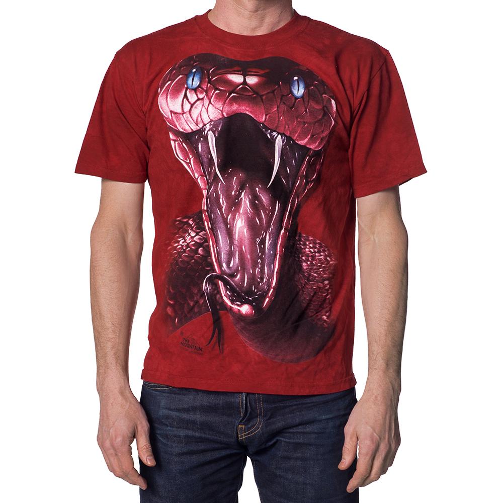 摩達客-美國進口The Mountain紅曼巴蛇 純棉環保短袖T恤