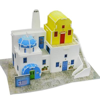 世界之窗 3D立體拼圖 希臘-民居 3D World Style