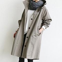 韓國寬鬆風衣素色外套