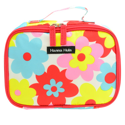 【Hanna Hula 日本】多用途隨身包-可裝化妝品/衣物/尿片(花樣紅)