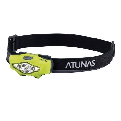 【ATUNAS 歐都納】隨身輕量頭燈(戶外/備用/單車/安全警示A-L1704螢光黃)
