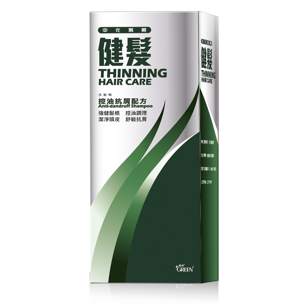 中化製藥健髮洗髮精-控油抗屑配方350ml