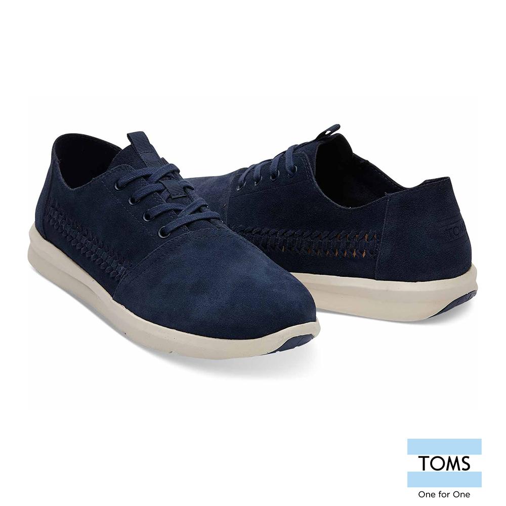 TOMS 麂皮編織綁帶休閒鞋-男款