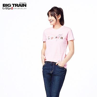 BIG TRAIN  和風物語短袖-女-粉紅