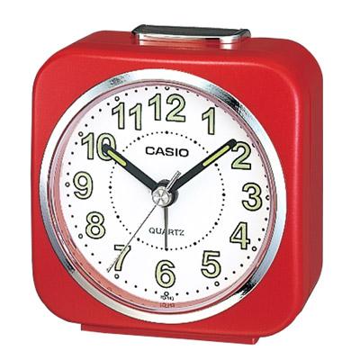 CASIO 桌上型指針鬧鐘(TQ-143-4)-紅框