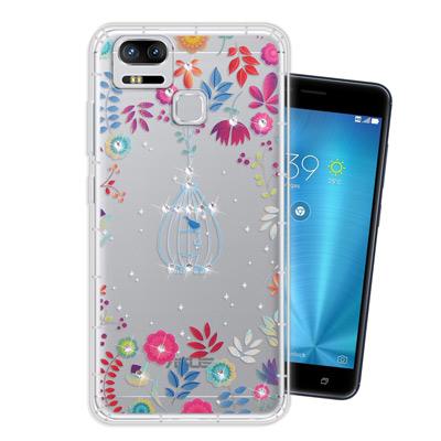 WT 華碩 ZenFone3 Zoom ZE553KL奧地利水晶彩繪空壓手機殼(...
