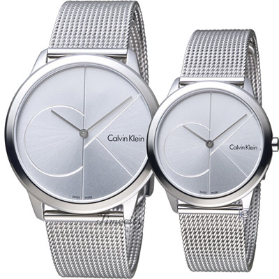 Calvin Klein Minimal穿越愛戀對錶(K 3 M 2112 Z  K 3 M 2212 Z