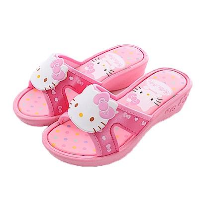 Hello kitty女童涼拖鞋 粉 sk0381 魔法Baby