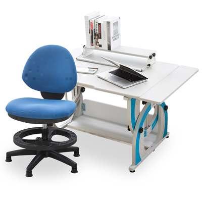 時尚屋 摩爾根兒童伸縮成長書桌椅組可選色/免運費/台灣製