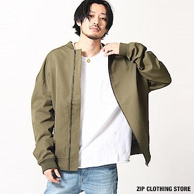 寬版MA-1飛行夾克(2色) ZIP日本男裝