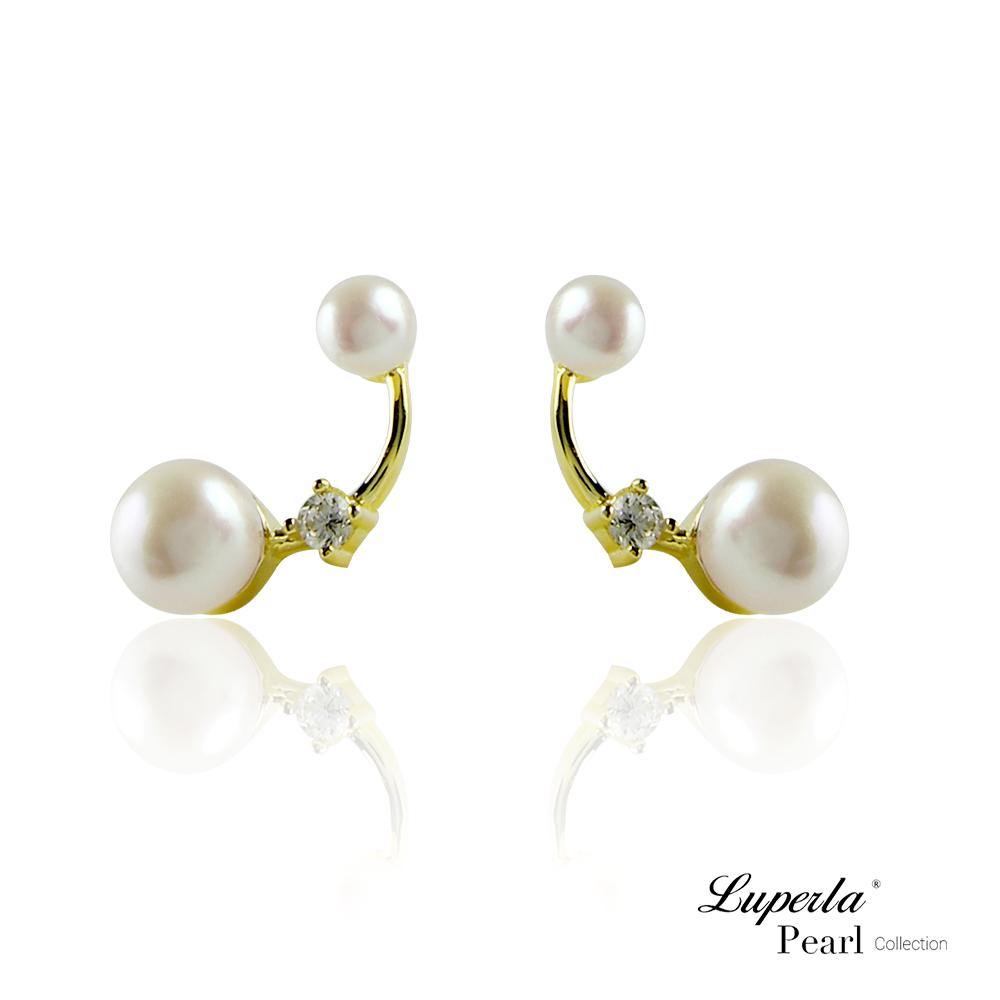 【大東山珠寶】淡水珍珠純銀耳環 璀璨珍心
