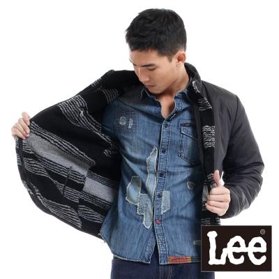 Lee-防風外套-兩面穿立領絨毛-男款-黑