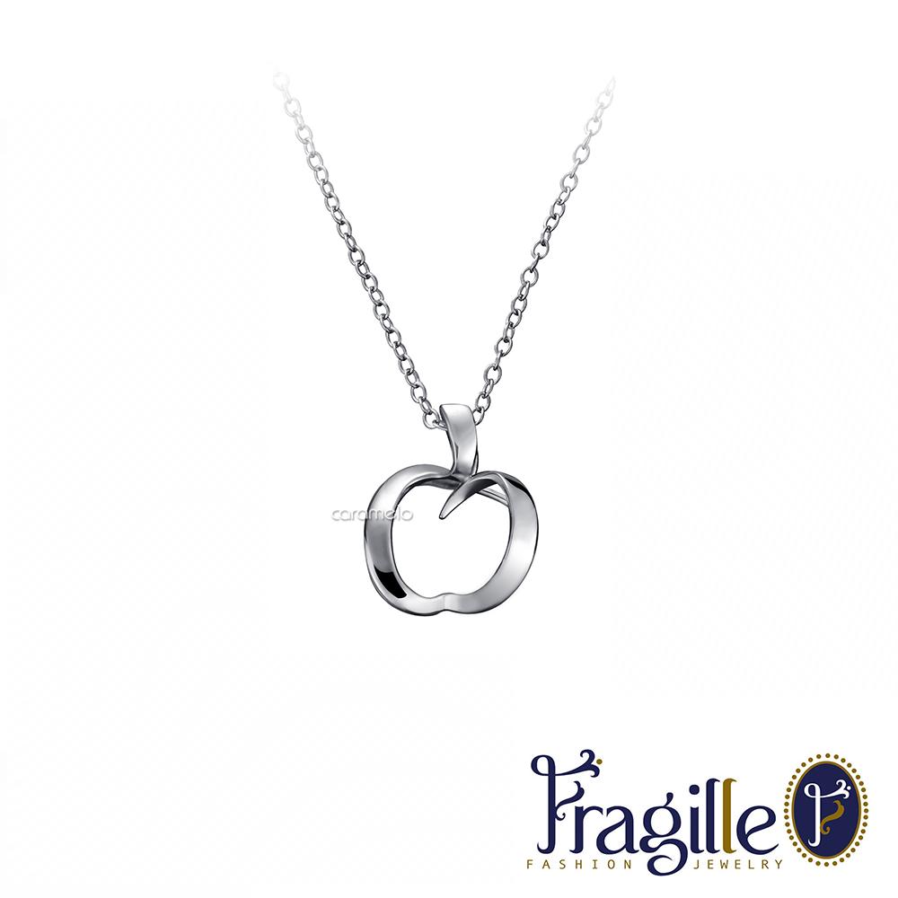 彩糖鑽工坊 心有獨鐘愛心銀項鍊 Fragille系列