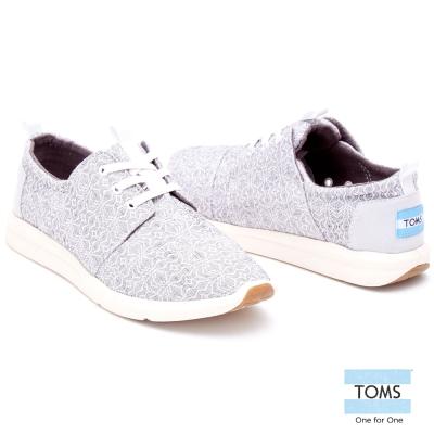 TOMS-部落圖騰休閒鞋-女款-灰