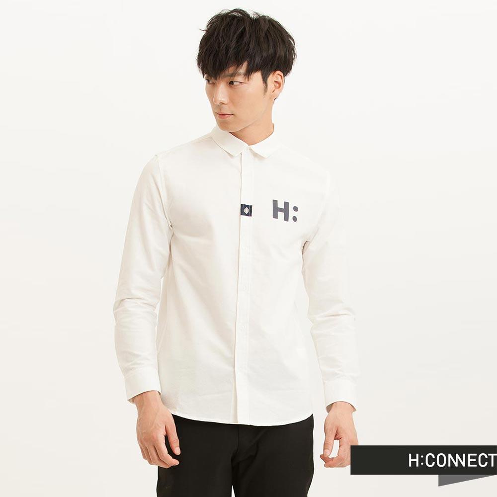 H:CONNECT 韓國品牌 男裝 - CONNECT質感純色襯衫 - 白