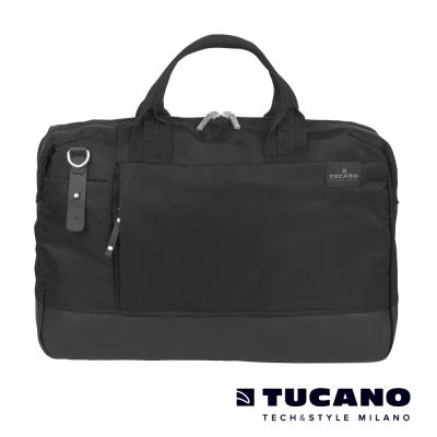 TUCANO-AGIO-15吋雅痞自在商務側背包-黑