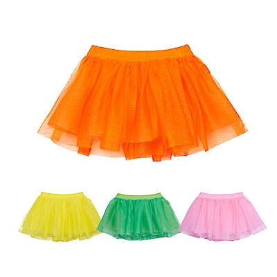 WHY AND 1/2 mini 亮蔥網紗短裙 1Y-4Y 多色可選