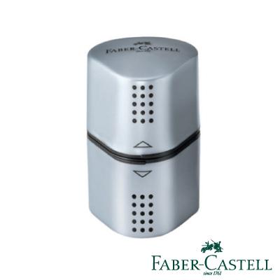 Faber-Castell 紅色系 DESIGN精緻多功能削筆器 (銀色)
