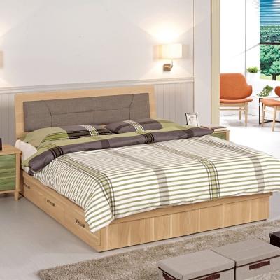 CASA卡莎 艾德雙人5尺床片型床組-床頭片 5尺抽屜型床底(不含床墊)-免組