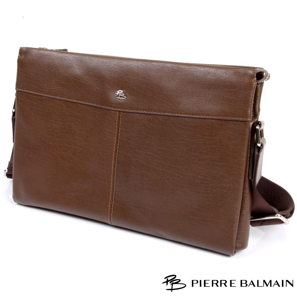 PB皮爾帕門-Cross Bag頭層牛皮橫式造型側包(中)