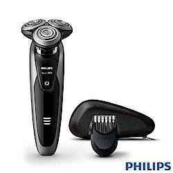 (福利品)飛利浦PHILIPS尊榮系列乾濕兩用三刀頭電鬍刀 S9161