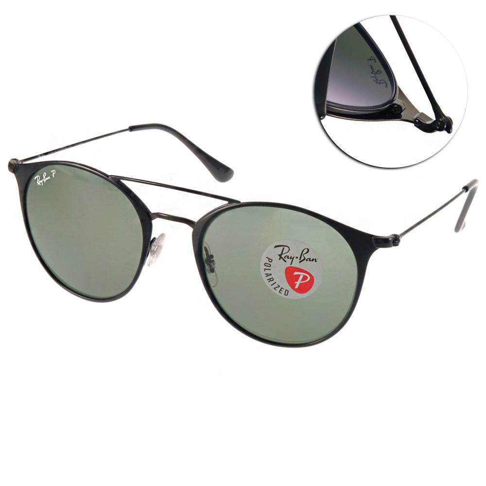 RAY BAN偏光太陽眼鏡 經典品牌/霧黑#RB3546 1869A