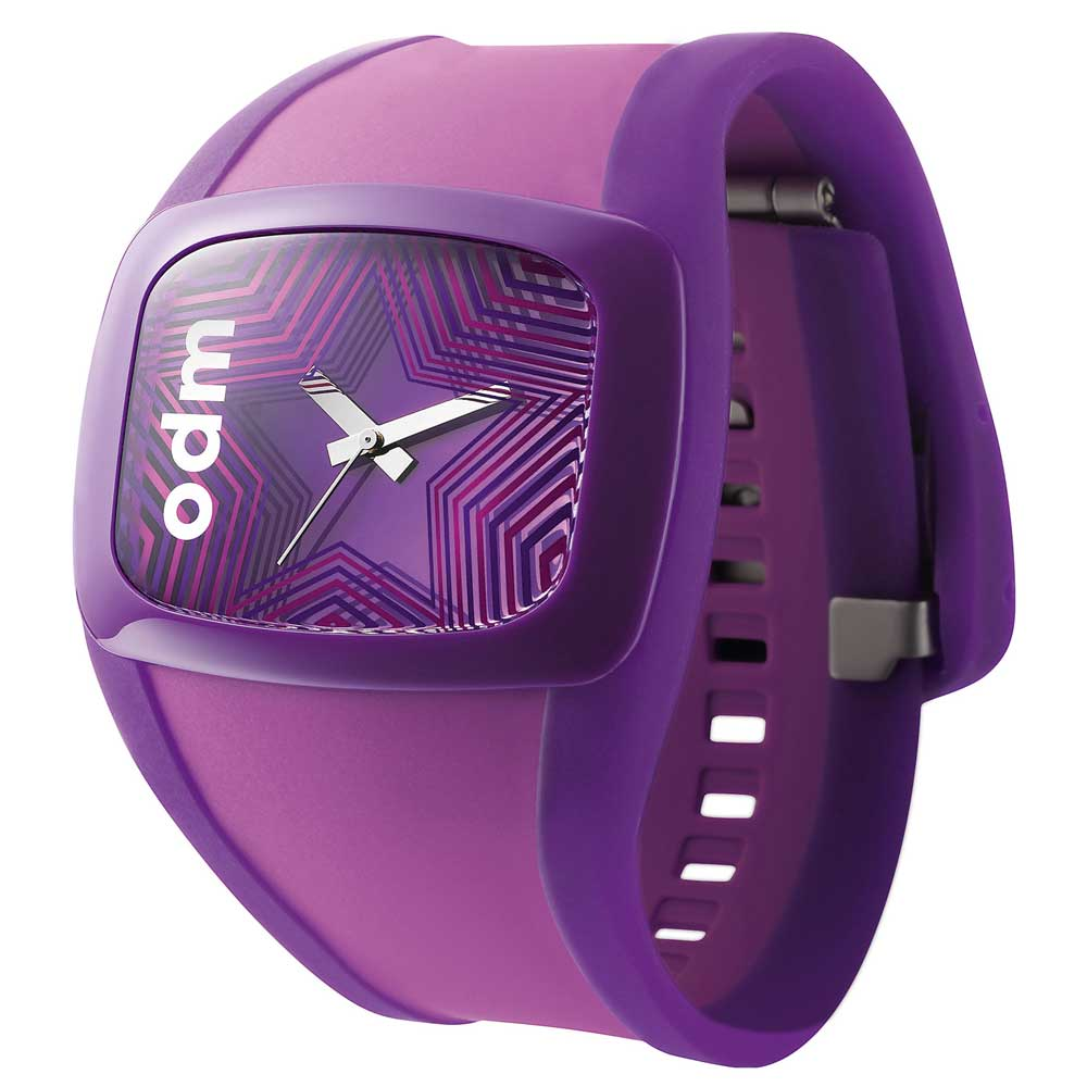 o.d.m. 炫彩電音星星時尚腕錶-紫/47mmX35mm