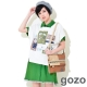 gozo 學院風格下擺拼接領片造型襯衫洋裝