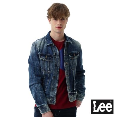 Lee 刷色牛仔外套-男款-深藍