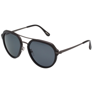 Dunhill 偏光太陽眼鏡 (黑+槍色)SDH056