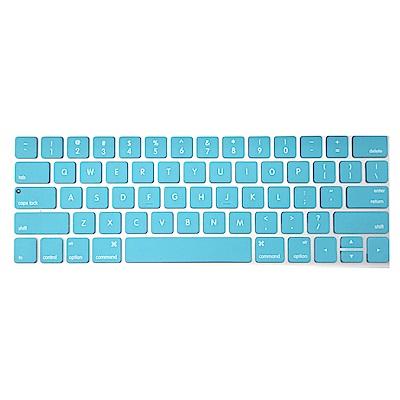 【SHOWHAN】MacBook Pro Touch Bar 13吋英文鍵盤膜 白藍